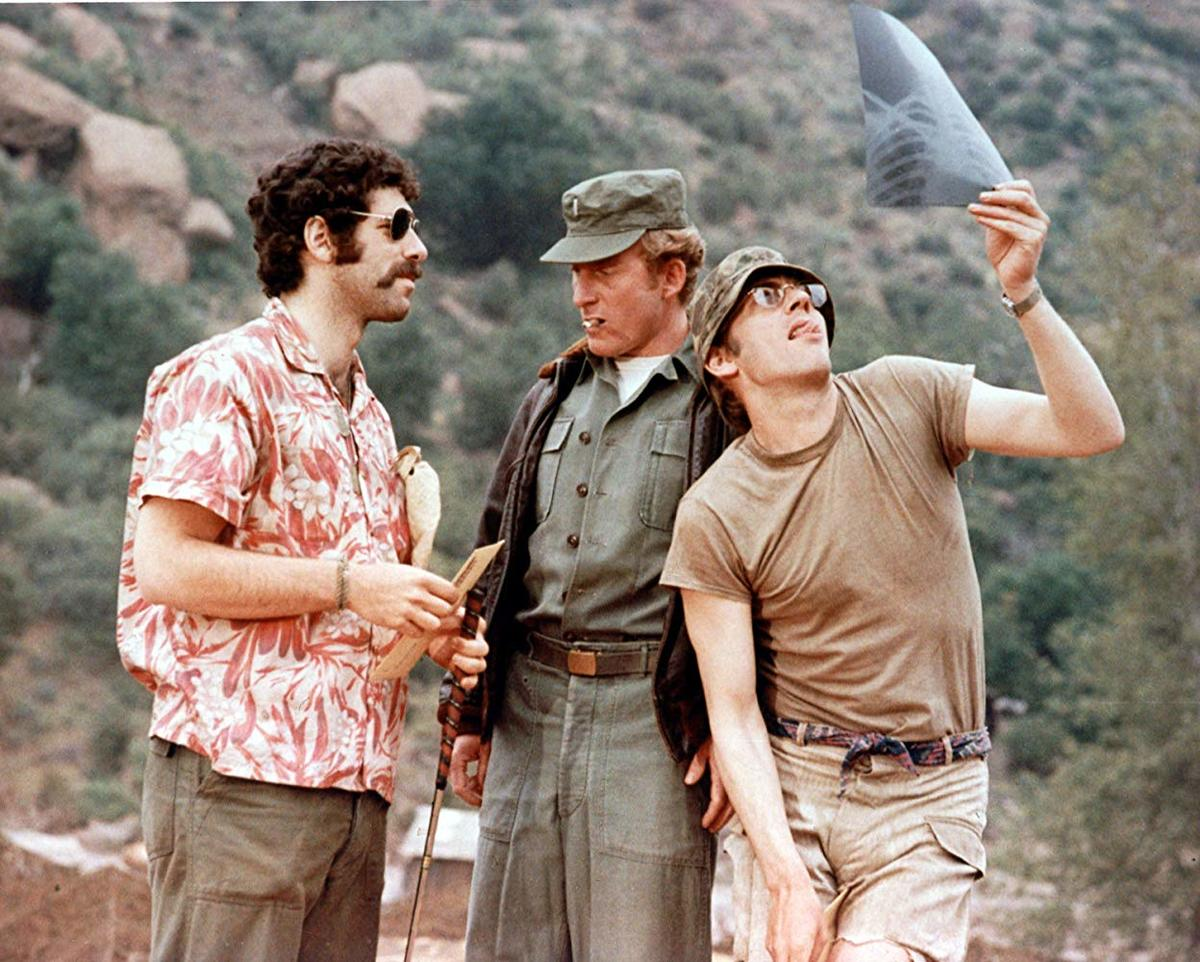 donald sutherland and elliott gould in a still from mash