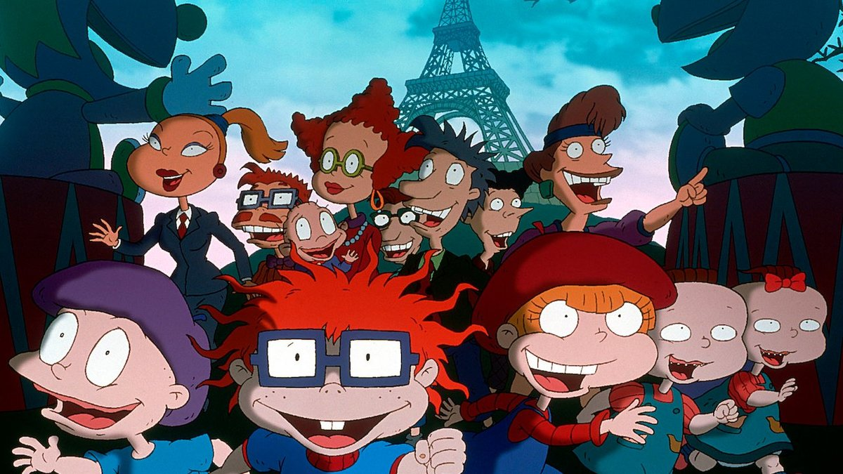 a still of various characters from rugrats in paris: the movie