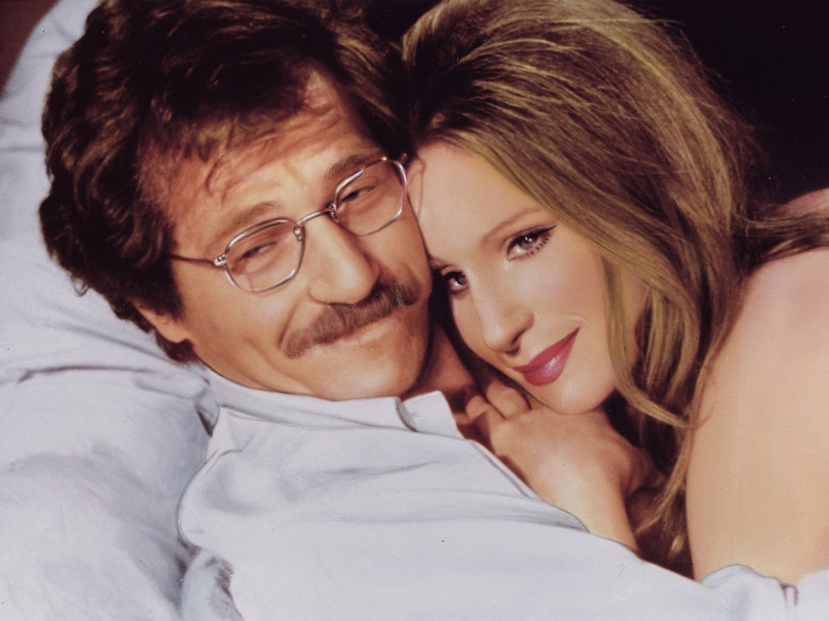 george segal and barbra streisand in a still from the owl and the pussycat
