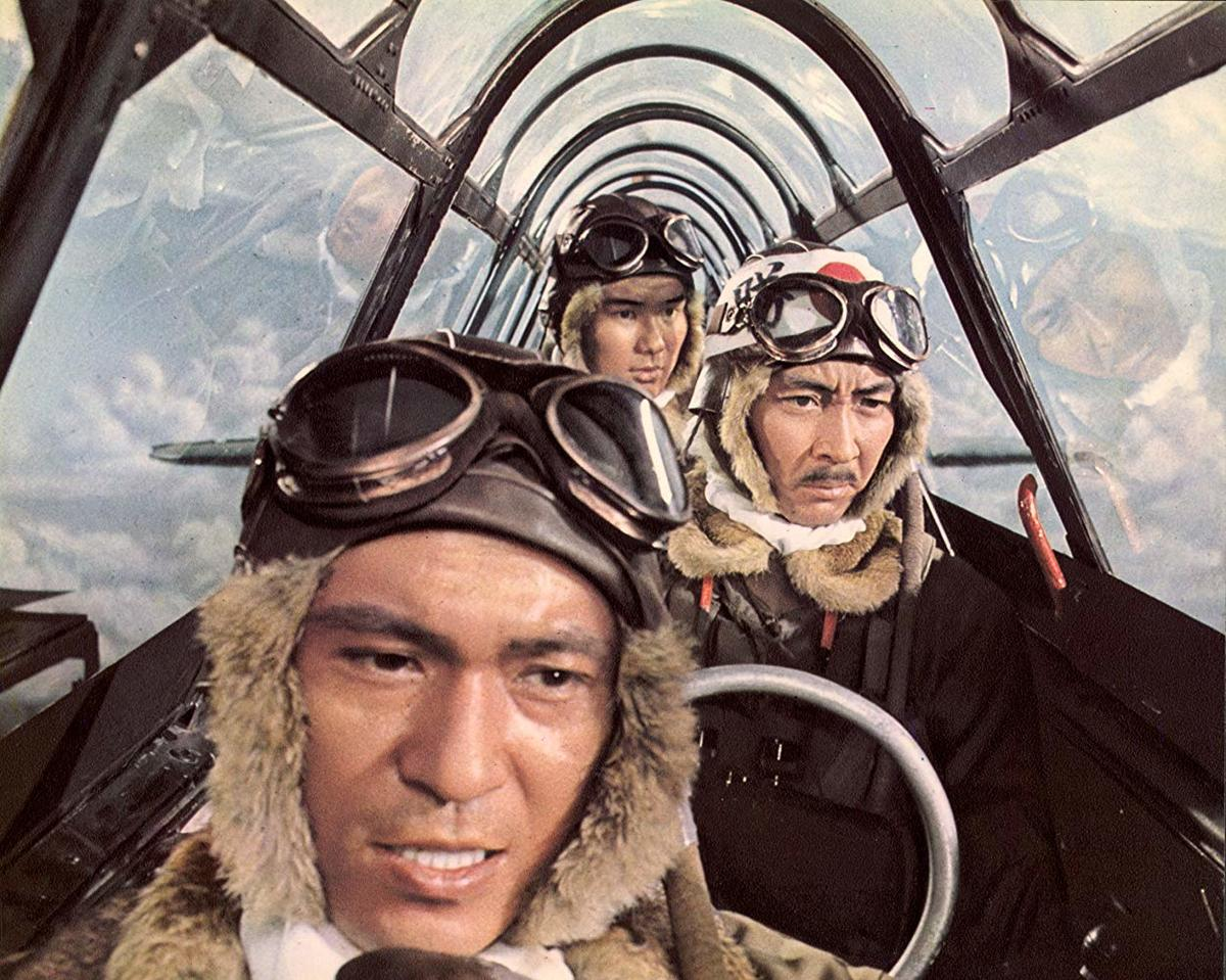 three men inside a plane in a still from tora! tora! tora!