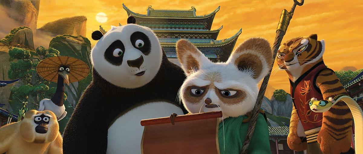 the various characters in a still from kung fu panda 2