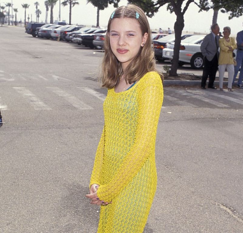 The 90s Acid-Yellow Mesh Dress With Baby Barrettes