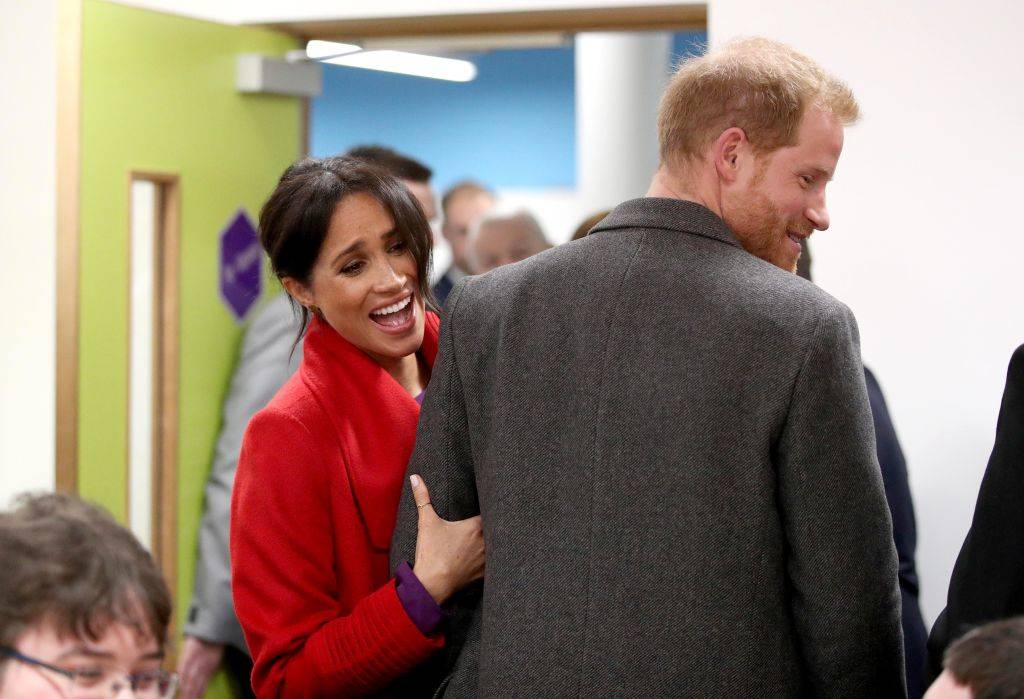 Meghan, Duchess of Sussex and Prince Harry, Duke of Sussex during their visit to the Hive, Wirral Youth Zone