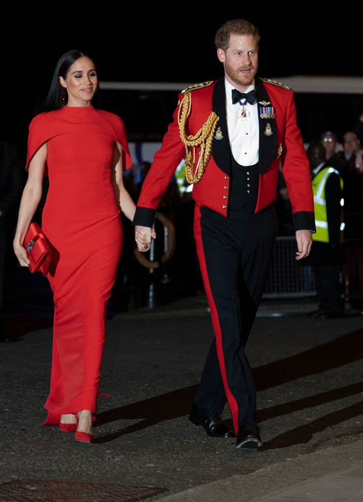 Prince Harry, Duke of Sussex and Meghan, Duchess of Sussex arrive to attend the Mountbatten Music Festival at Royal Albert Hall on March 7, 2020