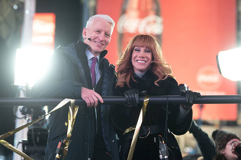 kathy griffin and cooper in times square