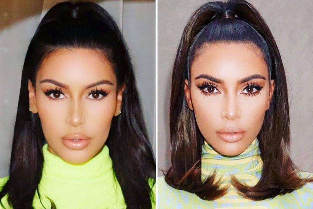 kim kardashian and lookalike