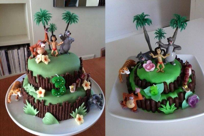 a jungle book cake that turned out well