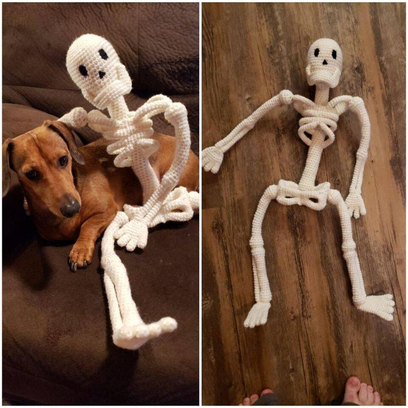 a crochet skeleton that looks awesome