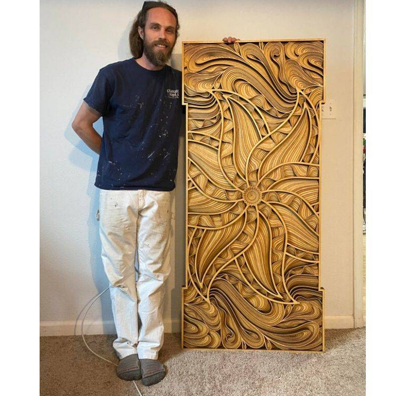 an amazing wood carving