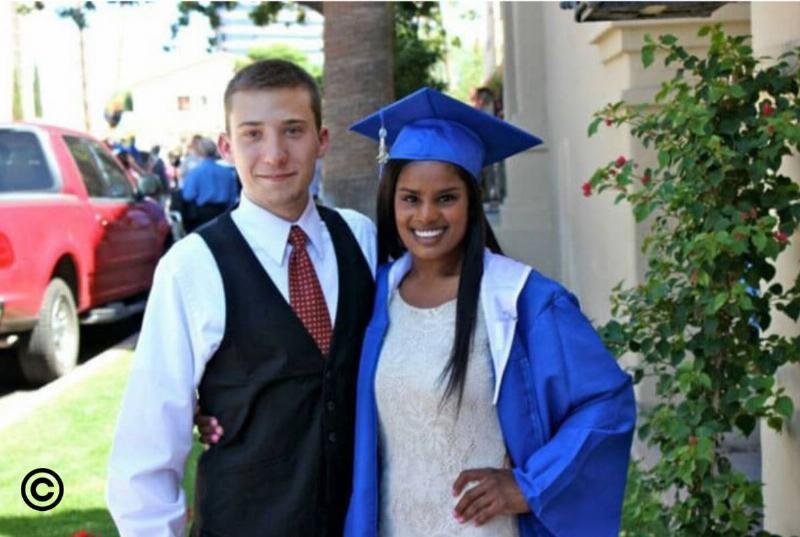 Matt and Laura graduating