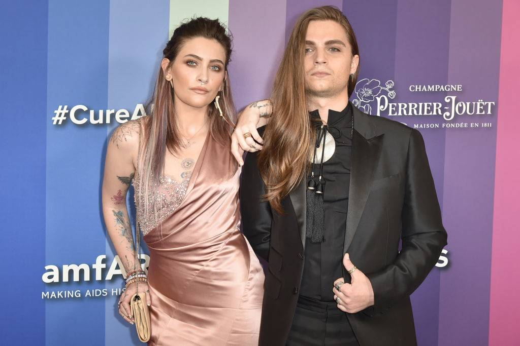 paris jackson and gabriel glenn on the red carpet