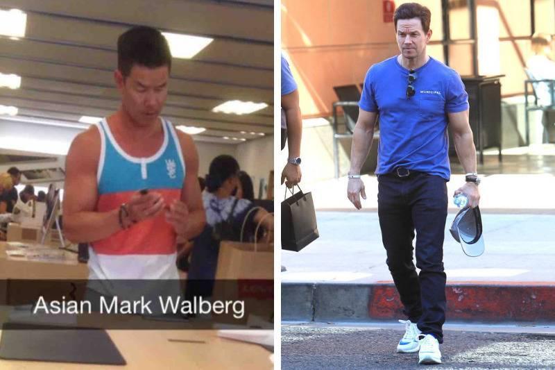 Mark Walberg Look Alike side by side