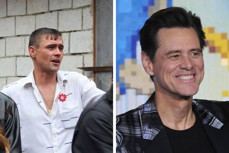 Jim Carrey Look Alike side by side