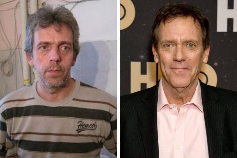 Hugh Lorie Look Alike side by side
