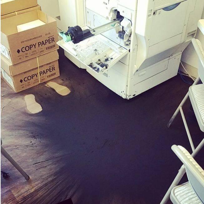 exploded printer ink