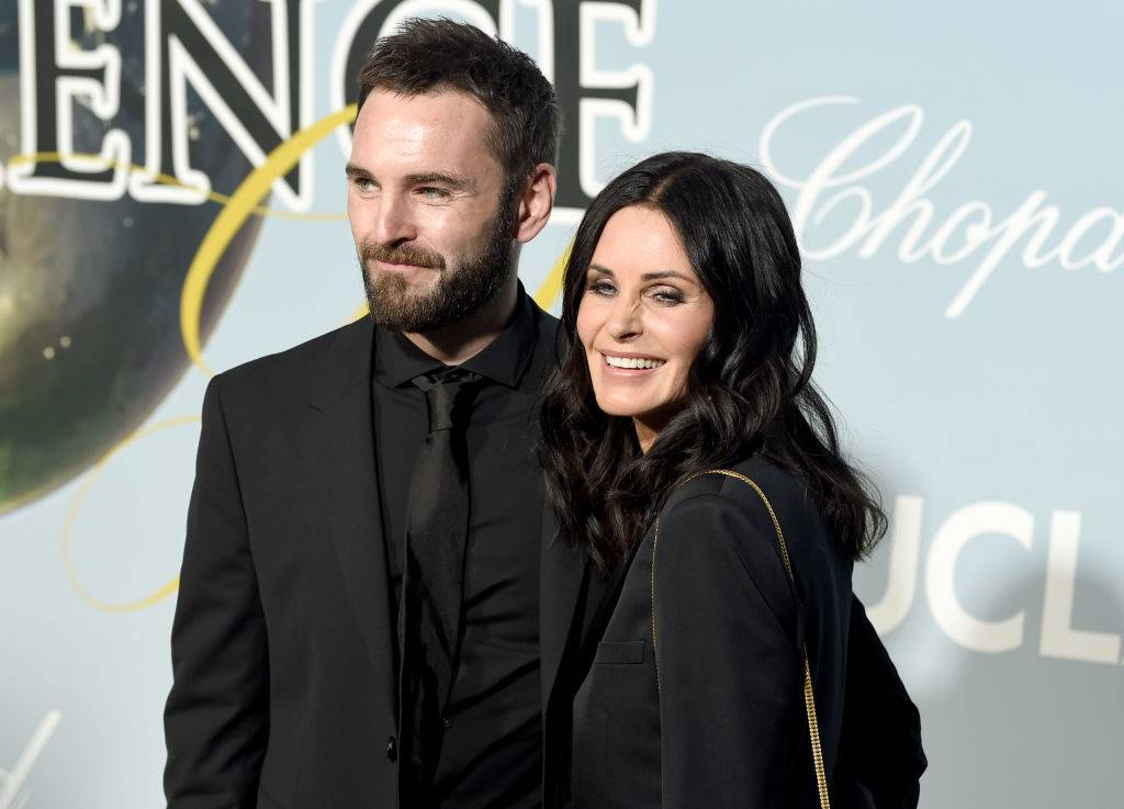 Johnny McDaid and Courteney Cox in 2019