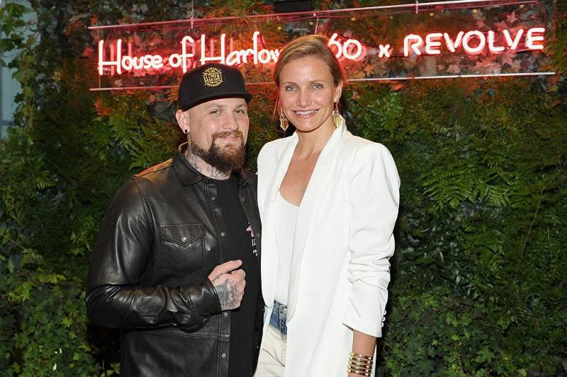Guitarist Benji Madden and actress Cameron Diaz attending an event in 2016