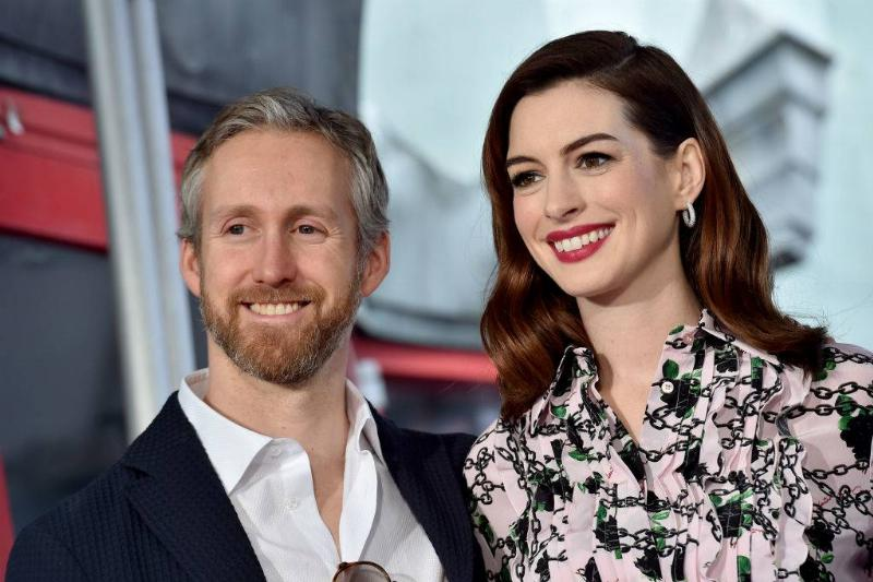 Anne Hathaway and Adam Shulman attending an event in 2019