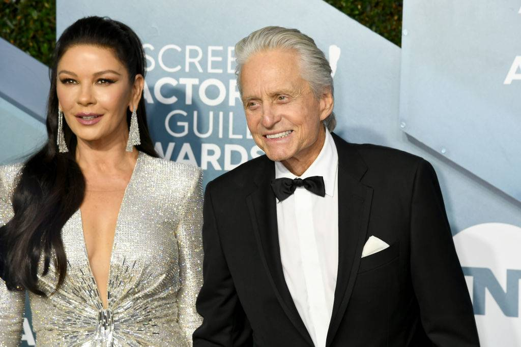 Catherine Zeta-Jones and Michael Douglas in 2020