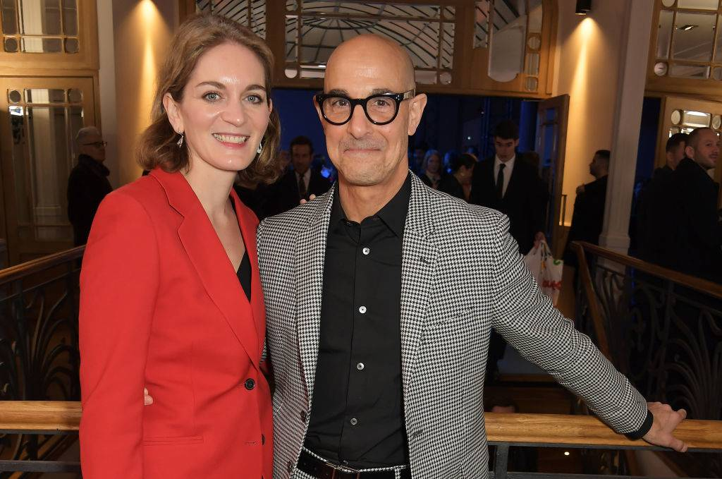 Felicity Blunt Tucci and Stanley Tucci in 2020