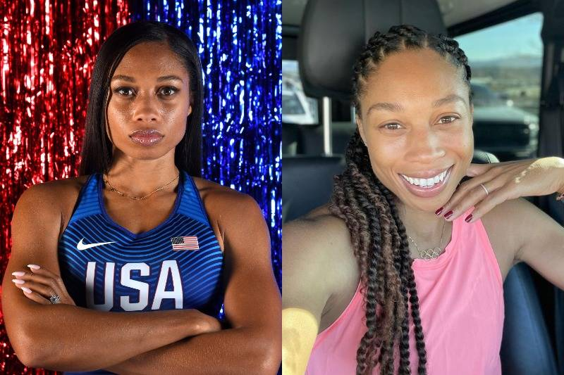 Allyson Felix Is Typically Bare-Faced Unless She's Competing