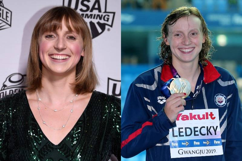 Katie Ledecky Looks Unstoppable No Matter What's On Her Face