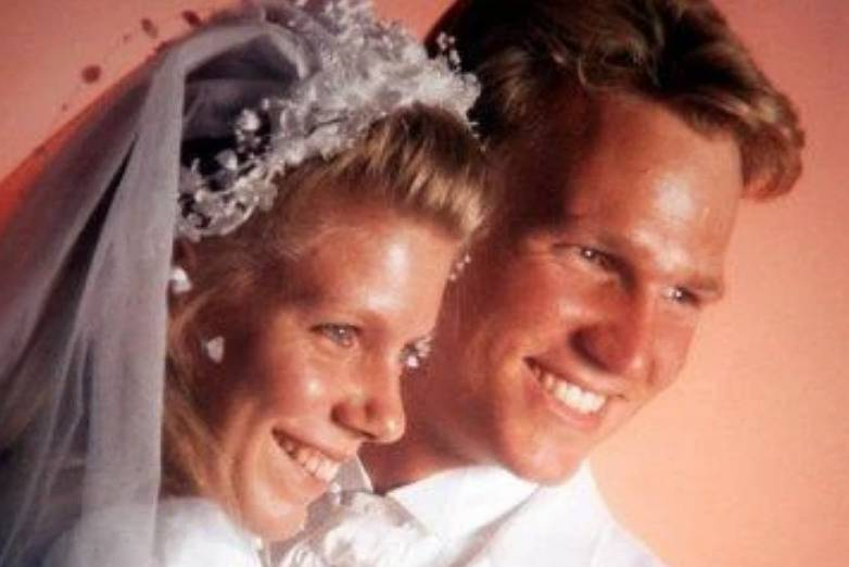 Kody and Meri are pictured on their wedding day.