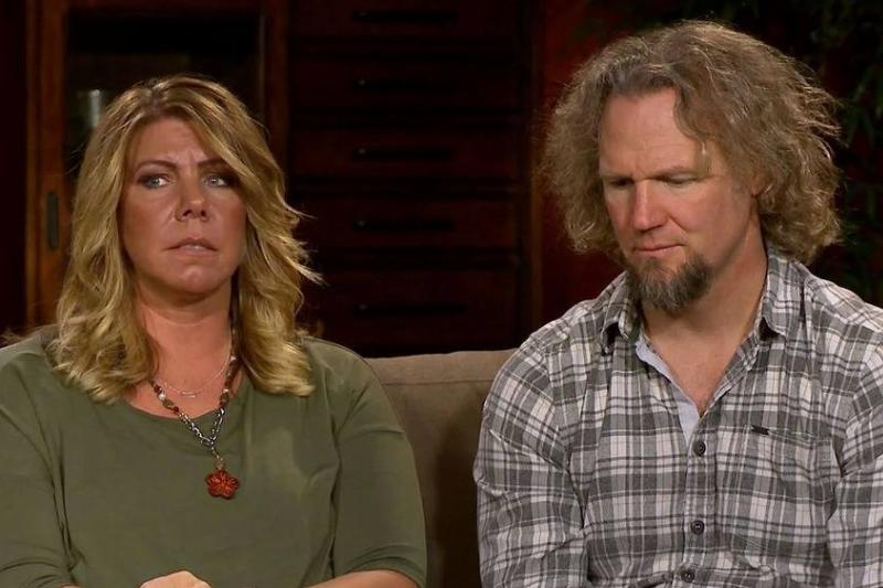 Meri speaks with her husband Kody during an interview on Sister Wives.