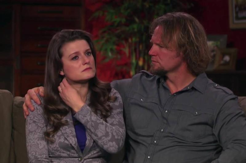 Kody and Robyn appear concerned during an interview on Sister Wives.