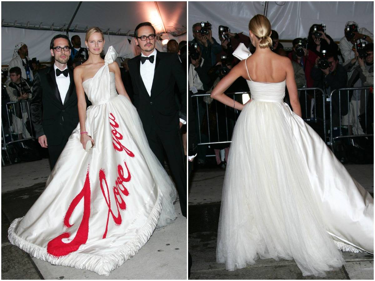 Karolina Kurkova shows off the front and back of her