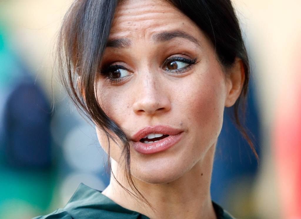 Meghan Markle making a surprised face
