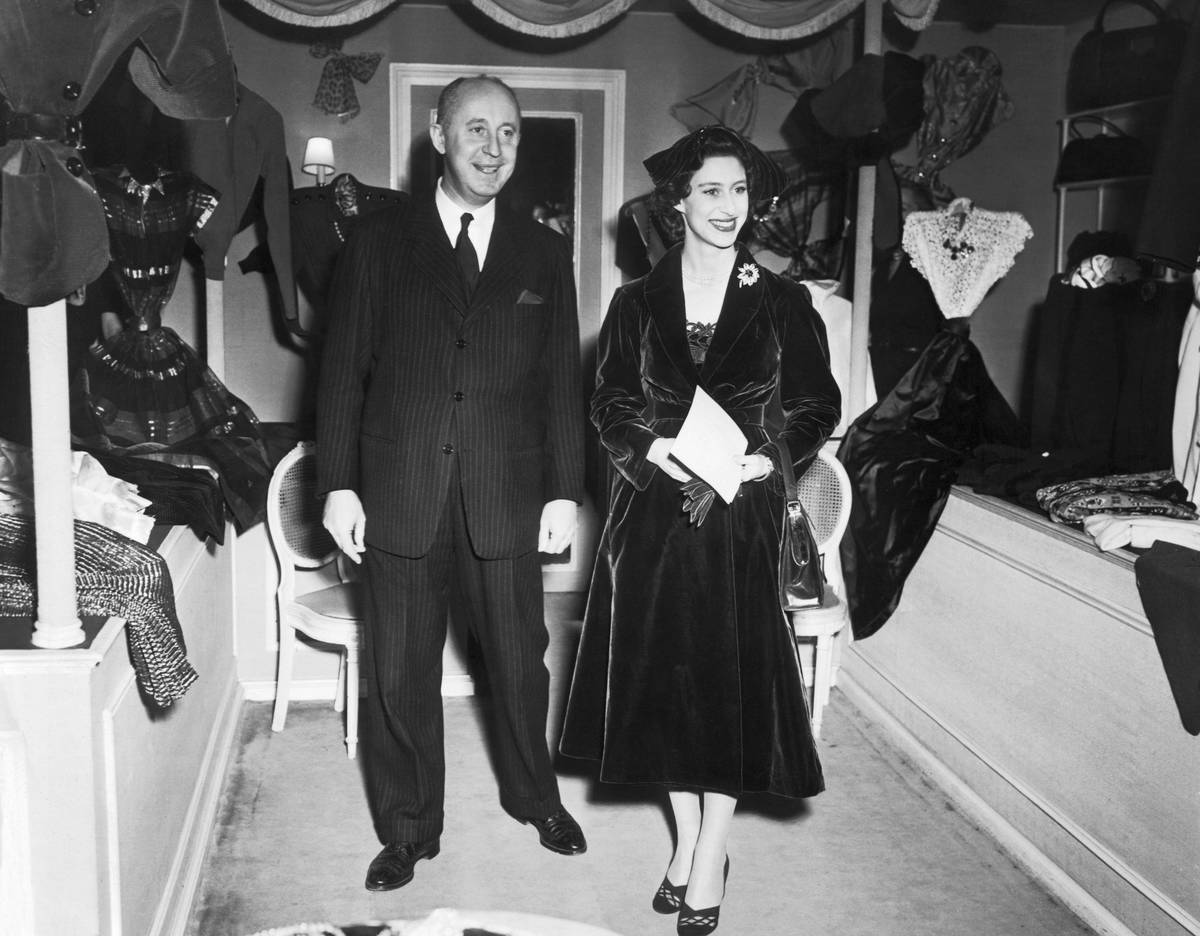 Portrait of Christian Dior with Princess Margaret