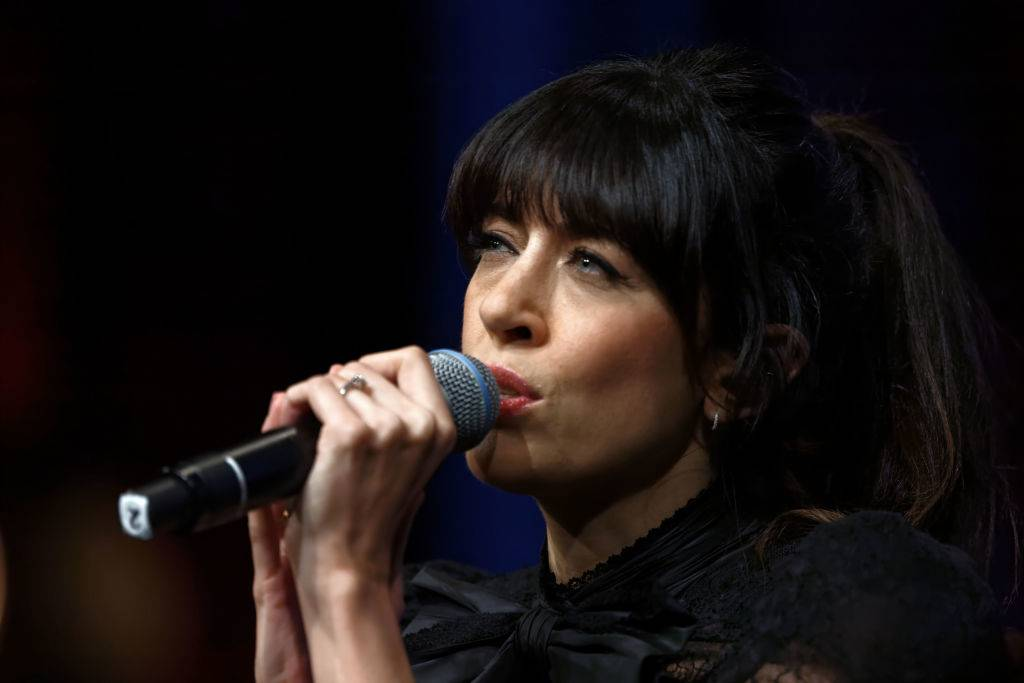 LYON, FRANCE - OCTOBER 19: Nolwenn Leroy performs live on stage during the Prix Lumiere 2018 At 10th Film Festival Lumiere on October 19, 2018 in Lyon, France. (