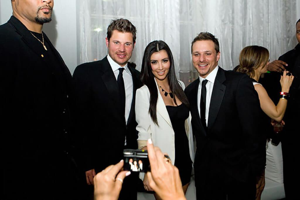 Nick Lachey + Kim Kardashian