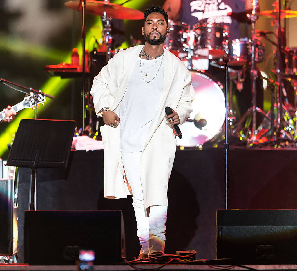 Miguel Stuns In White